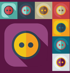 Flat modern design with shadow icons button vector
