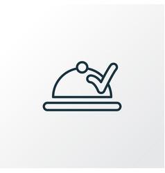 food delivery icon line symbol premium quality vector image