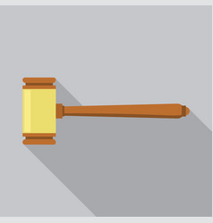 gavel judge icon flat style vector image