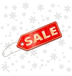 Holiday saleChristmas discounts Red price tag vector image