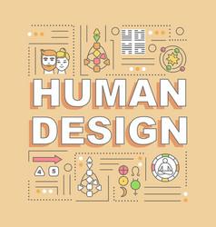 Human design word concepts banner vector