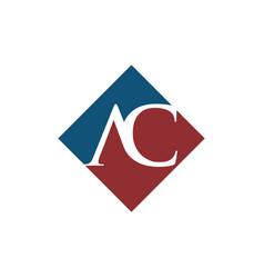 Initial ac rhombus logo design vector