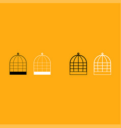 Iron cage it is white icon vector
