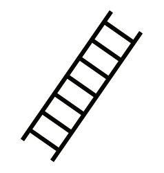 isolated ladder design vector image