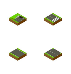 Isometric road set of underground rightward vector