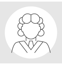 Judge avatar line icon vector image vector image