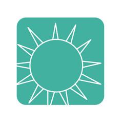 Label nice light sun image vector