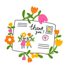 letter for a friend cartoon envelope vector image