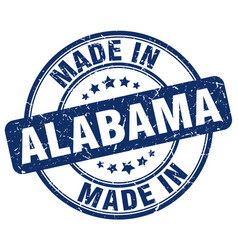Made in alabama blue grunge round stamp vector