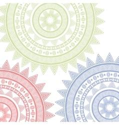 mandala circle art isolated icon vector image
