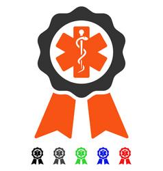 Medical seal flat icon vector