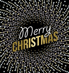 Merry Christmas abstract mandala design in gold vector image