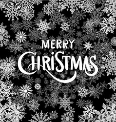 Merry Christmas Lettering text decorative vector