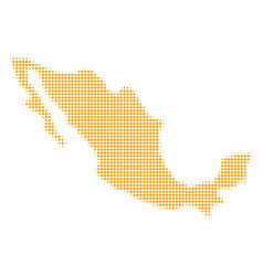 Mexico map halftone icon vector