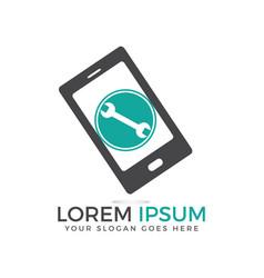 Mobile phone repair logo design element vector