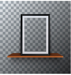 modern empty frame standing on a wooden vector image