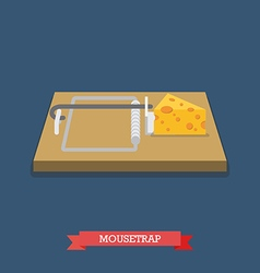 Mousetrap flat style icon vector image