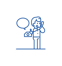 negotiations on phone line icon concept vector image