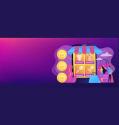 Niche service marketplace concept banner header vector