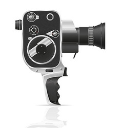 old retro vintage movie video camera 02 vector image
