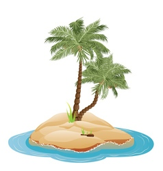 Palm Tree on Island4 vector