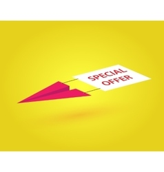 Paper airplane vector