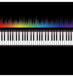 Piano keyboard with equaliser vector