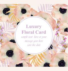 poppy flowers luxury design card vector image vector image