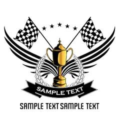 Race emblem vector