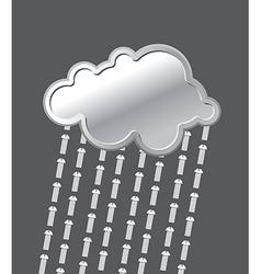 Rain of bolts Metal iron cloud Precipitation of vector image