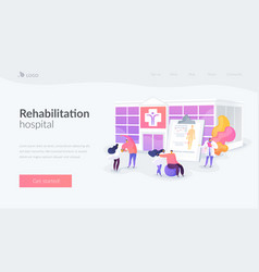 Rehabilitation center landing page concept vector