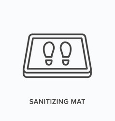 Sanitizing mat line icon outline vector