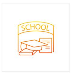 School graduation gradient icon vector