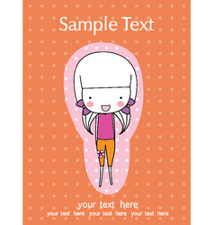 scrapbook design elements cute baby girl set vector image