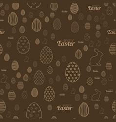 seamless easter pattern with chocolate background vector image
