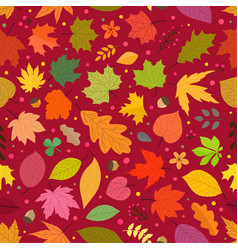 seamless pattern autumn leaves seamless vector image