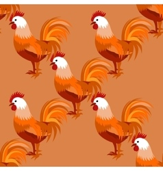Seamless pattern with cock vector image