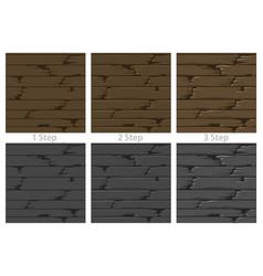 seamless textured wood floor vector image