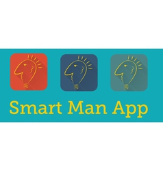Smart man application vector