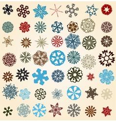 Snowflakes set vector