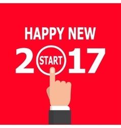 Start new year 2017 idea vector