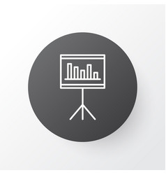 statistics and management icon symbol premium vector image