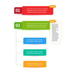 steps elements for web interface infograph vector image