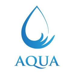 Stylized Water Icon with Text vector image