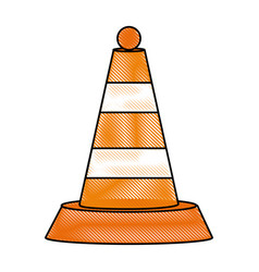 traffic cone symbol vector image