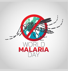 World malaria day logo icon design vector