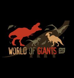 World of giants vector