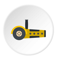 Yellow circular saw icon circle vector