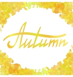 Yellow watercolor frame vector image