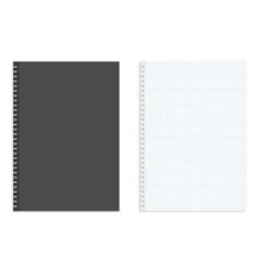Blank realistic spiral squared notebook vector image vector image